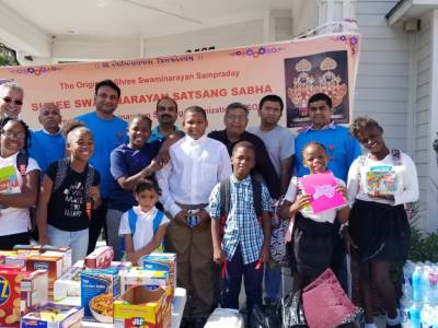 Hurricane Relief Help by Indian Hindu Temples in Research Triangle
