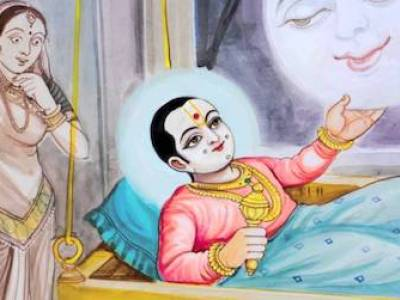 Ghanshyam calls the moon down