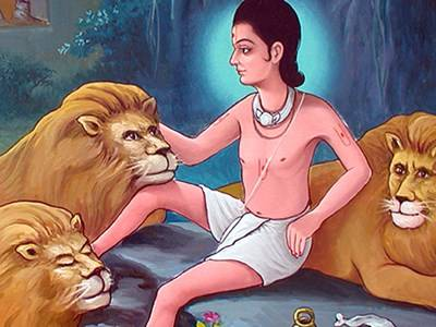 Ascetics And Lions